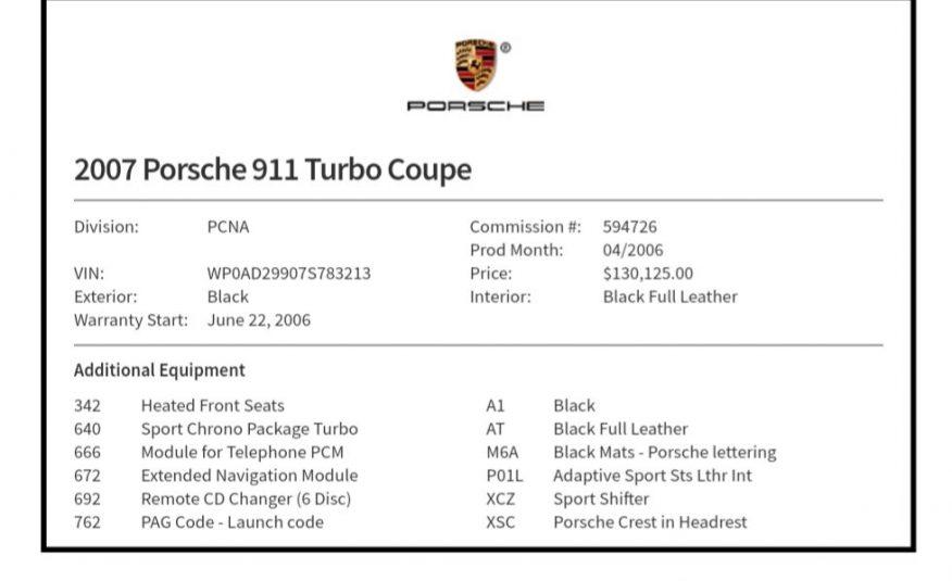 2007 PORSCHE 911 TURBO - RSM Motors